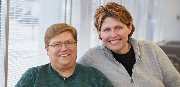 SLUCare heart patients Mary Cagle and daughter Kim Urban
