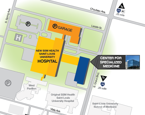 New Hospital Campus Map