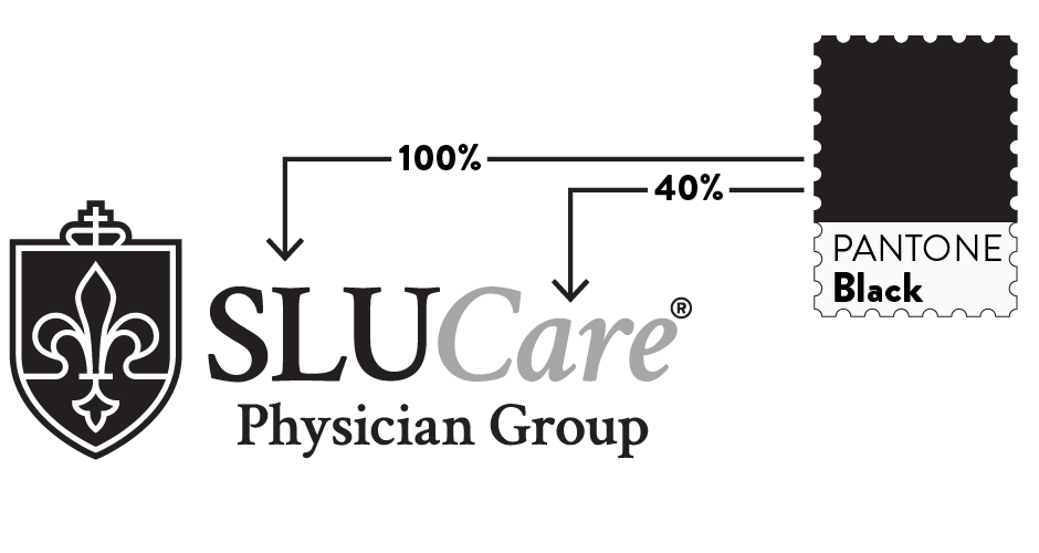 SLUCare Black and White Logo Elements Defined