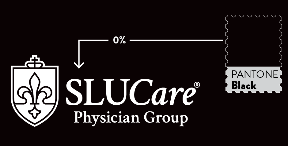 SLUCare Logo Reversed, Elements Defined